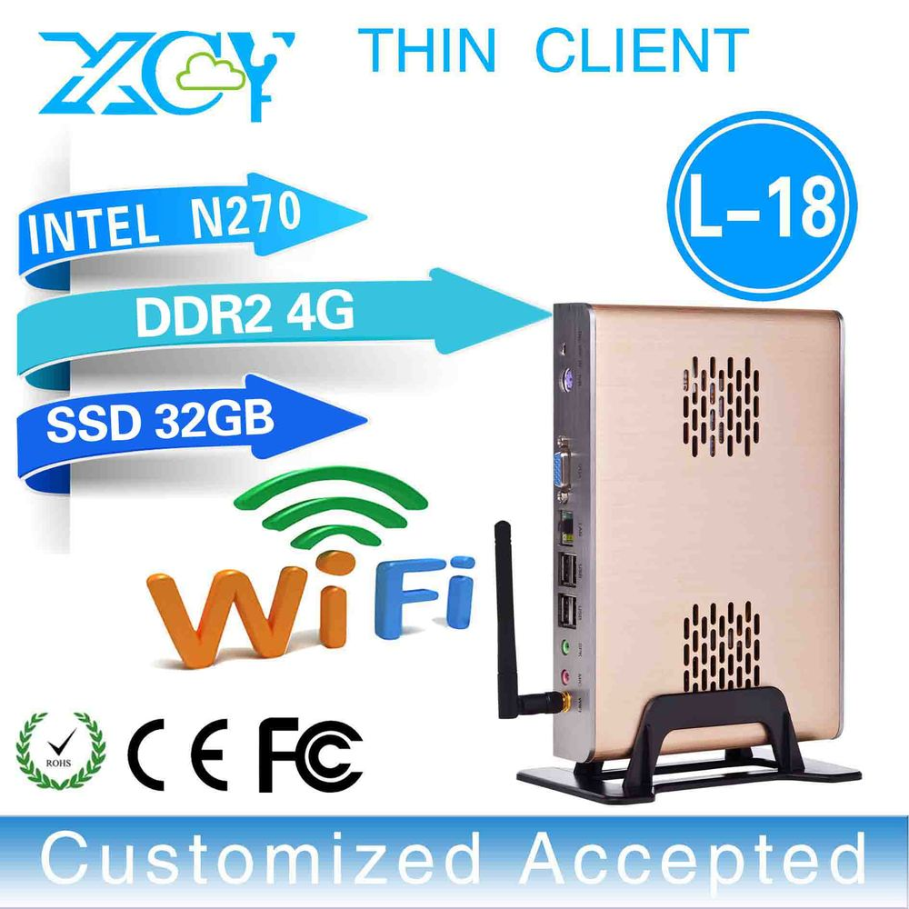 support touch screen XCY L-18 embedded mini pc Intel N270 industrial embedded pc latest desktop computers 4g ram 32g ssd(China (Mainland))