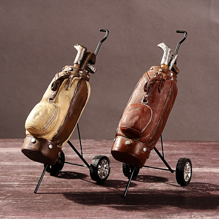 Golf clubs, cafe shop furnishing articles, wine accessories, creative gifts,Decoration Crafts,Resin Crafts(China (Mainland))