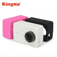 Kingma xiaomi yi 4 k funda de silicona caso protector para xiaomi yi 2 ii 4 k cámara de acción funda de silicona para xiaomi yi 4 k accesorios