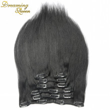 Buy Remy Virgin Brazilian Hair Clip Extensions Full Head Clip Brazilian Hair Extensions 1B Black Clip Human Hair Extensions for $39.44 in AliExpress store