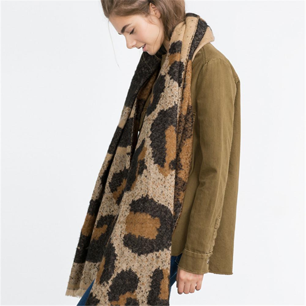 2016 Explosion New Brand Za Women Scarf Leopard Wram Wraps Winter Warm font b Tartan b