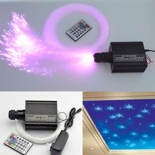 Красочные волоконно-оптический звезда потолок комплект света 0.75 мм 150 шт. * 2 м + 250 шт. * 3 м оптический кабель + 16 Вт rgbw двигатель рф дистанционного