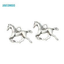 Buy JAKONGO Antique Silver Plated Horse Charms Pendants Jewelry Making Bracelet Jewelry Findings DIY Handmade Craft 15x20mm for $1.39 in AliExpress store