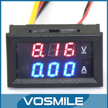 YB27-VA Digital Ammeter Voltmeter DC0-100V 50A Red/Blue 2in1 Dual Color Display 12V 24V Monitor Car Voltmeter Ammeter #200938(China (Mainland))