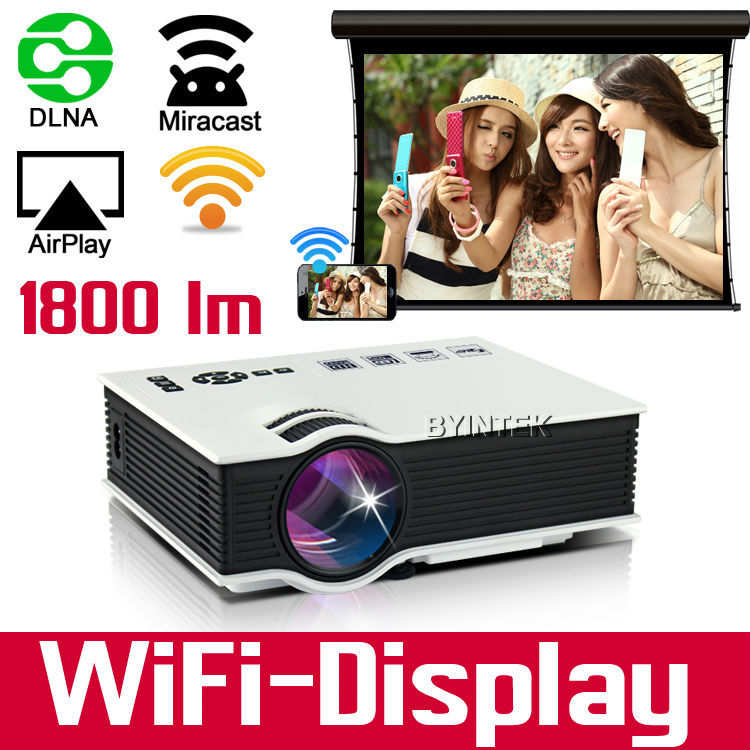 Cheapest micro Wireless projection 1800lumens Video HDMI USB VGA TV Full HD 1080P Home Theater mini wifi 3D LED Projector(China (Mainland))