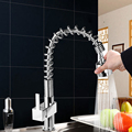 Single Handle Kitchen Sink Pull Out Spray Mixer Tap Faucet Polished Chrome