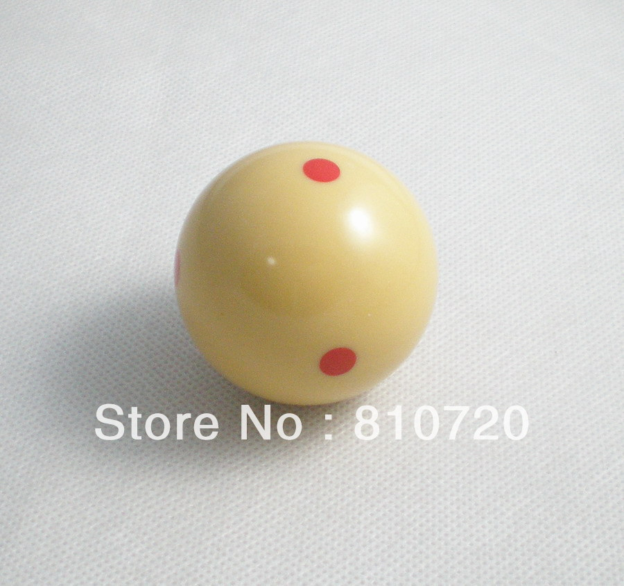 """Free shipping 1pcs Practice Training red point Pool snooker Billiard table Cue ball 2-1/4"""" 57.2MM(China (Mainland))"""