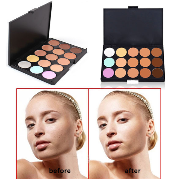 Hot Sale New Professional 15 Color Makeup Cream Camouflage Concealer Palette Face Cosmetics beauty free shipping