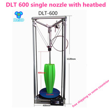High precision HE-3D Auto- leveling single extruder DLT-600 3D printer 2004 LCD DIY kit with heatbed