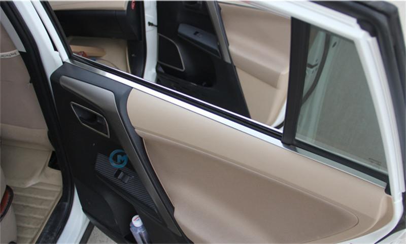 For Toyota RAV4 2013 2014 2015 Inner Interior Side Door Window Molding And Door Panel Moulding Cover Trim 4pcs Per Set<br><br>Aliexpress