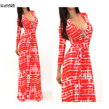 Buy 2016 Women Celeb Sexy Club Boho Long Maxi Dresses Ladies vestidos Autumn Beach Party Sun Casual Sexy V-neck long dress 912 DX for $13.26 in AliExpress store