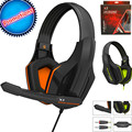 2016 Top Quality Professional Super Bass Over ear Gaming Headset with Microphone Game Stereo Headphones for