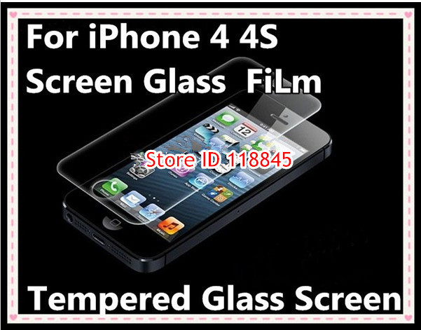 100pcs 2 5D 9H Tempered Glass Screen Protector for iPhone 4 4s 4G Explosion Proof Toughened