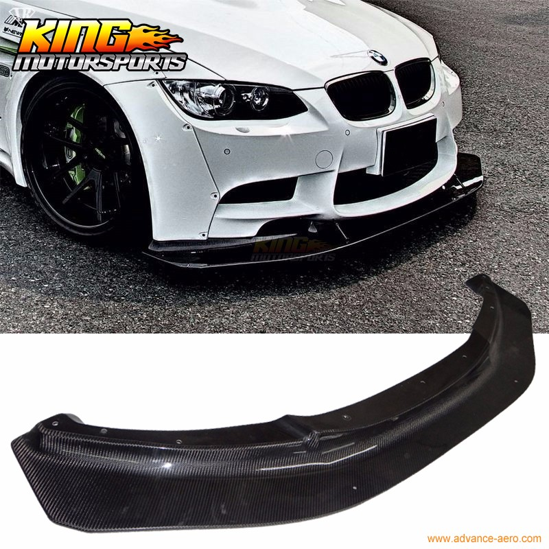 Fit For 08-13 BMW E90 E92 E93 M3 Only 2 4Dr LB Style Front Bumper Lip - Carbon Fiber