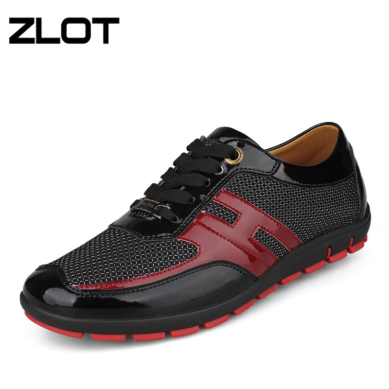 ZLOT Big Size 38-47 Men's Flats Summer Breathable Casual Pointed Toe Lace Up Glitter Soft Leather Men Shoes Male Shoes Moccasins(China (Mainland))