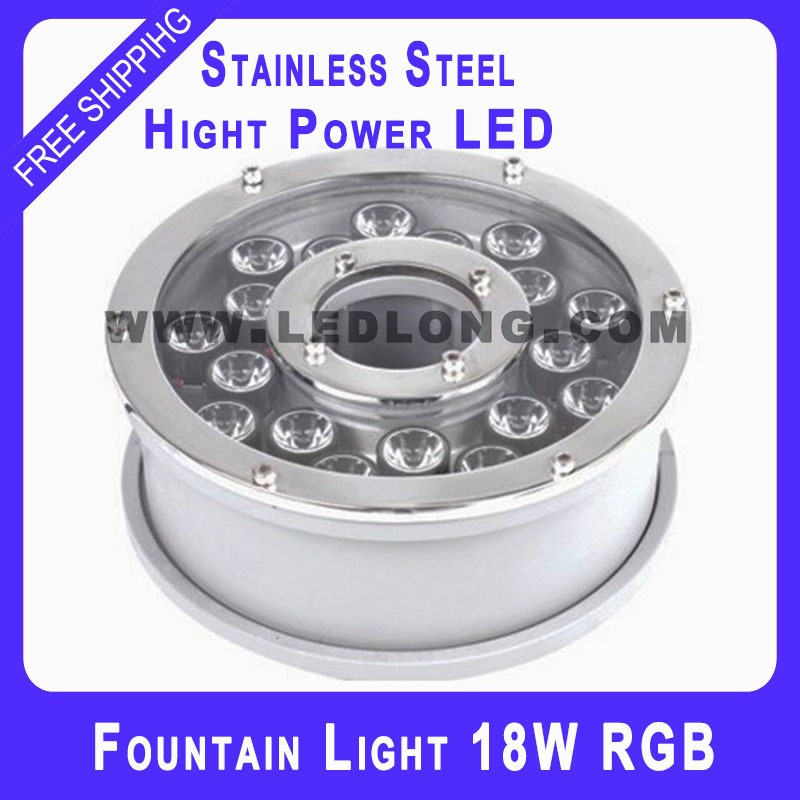 Stainless material led fountain light with RGB rumote controller(China (Mainland))