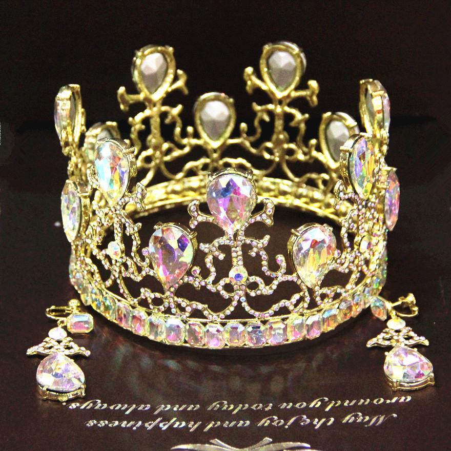 sale Colored Semi precious Stone Baroque crown full round ...