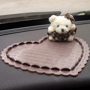Bear doll car perfume slip-resistant pad three-dimensional heart decoration glove pad cartoon