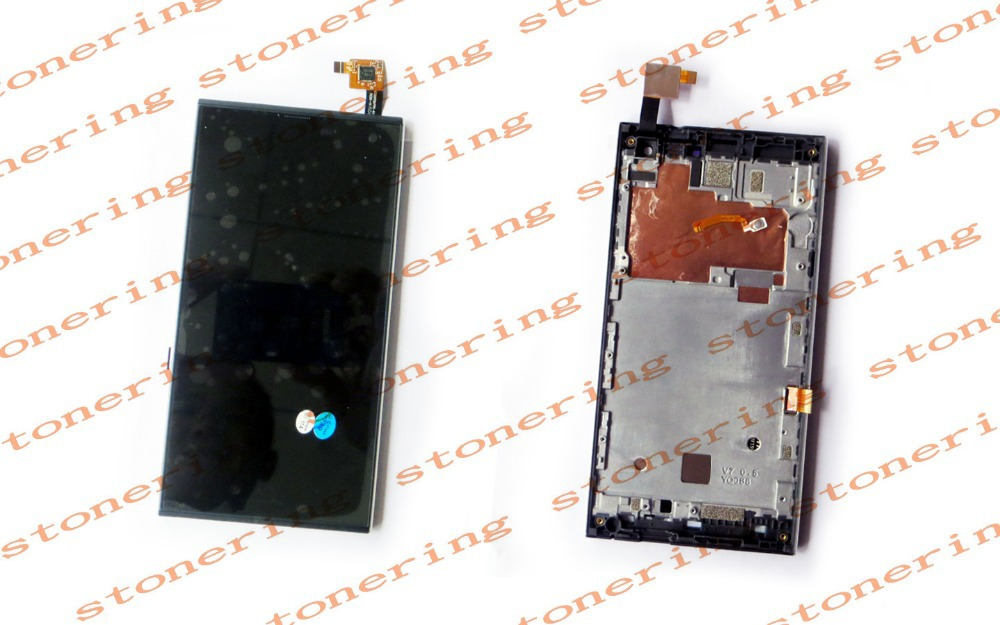 Original Lcd Screen Display and Touch Screen Digitizer Assembly with Frame for Inew V7 (Black)