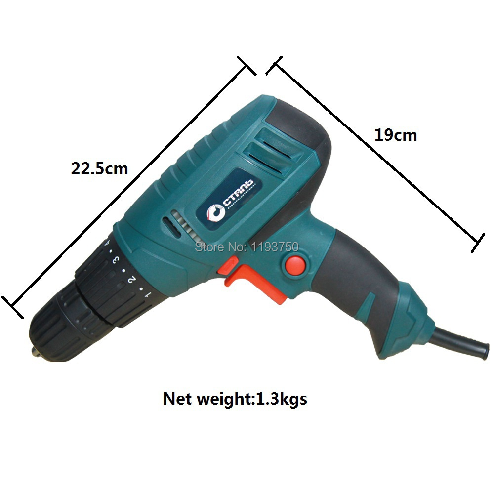 Free Shipping 220V 450W Electric Screwdriver Drill Parafusadeira with Adjustable Torque Setting Power tools