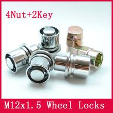 4nuts+2keys M12x1.5 Alloy Flat washer Wheel Nut Locks ANTI-SHEFT NUT FOR the wheel/ rims of toyota Corolla/Rav4/Crown/Pardo/Reiz(China (Mainland))