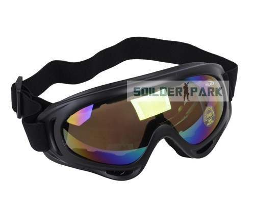 Airsoft Military UV400 Wind Dust Tactical Goggle Glasses Outdoor Hunting Anti-Fog Anti-Scratch Light Durable Goggle Colourful(China (Mainland))