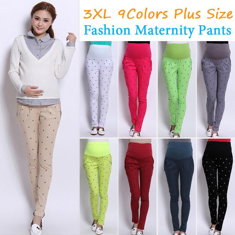 3xl Plus Size Maternity Pants 9 Colors Women Trousers Cotton