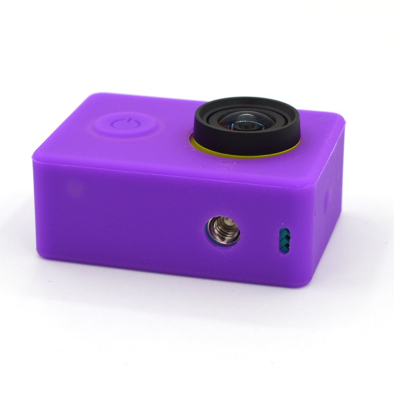 Original Xiaomi Yi Camera Case Yi Sports Action Camera Aksesoris Accessories Colorful Silicone Protective Lens Cover
