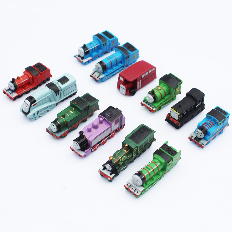 Thomas and Friends figures Thomas Mini Trains PVC Figure Toys 12pcs/lot  6CM  Kids Toys Free Shipping(China (Mainland))