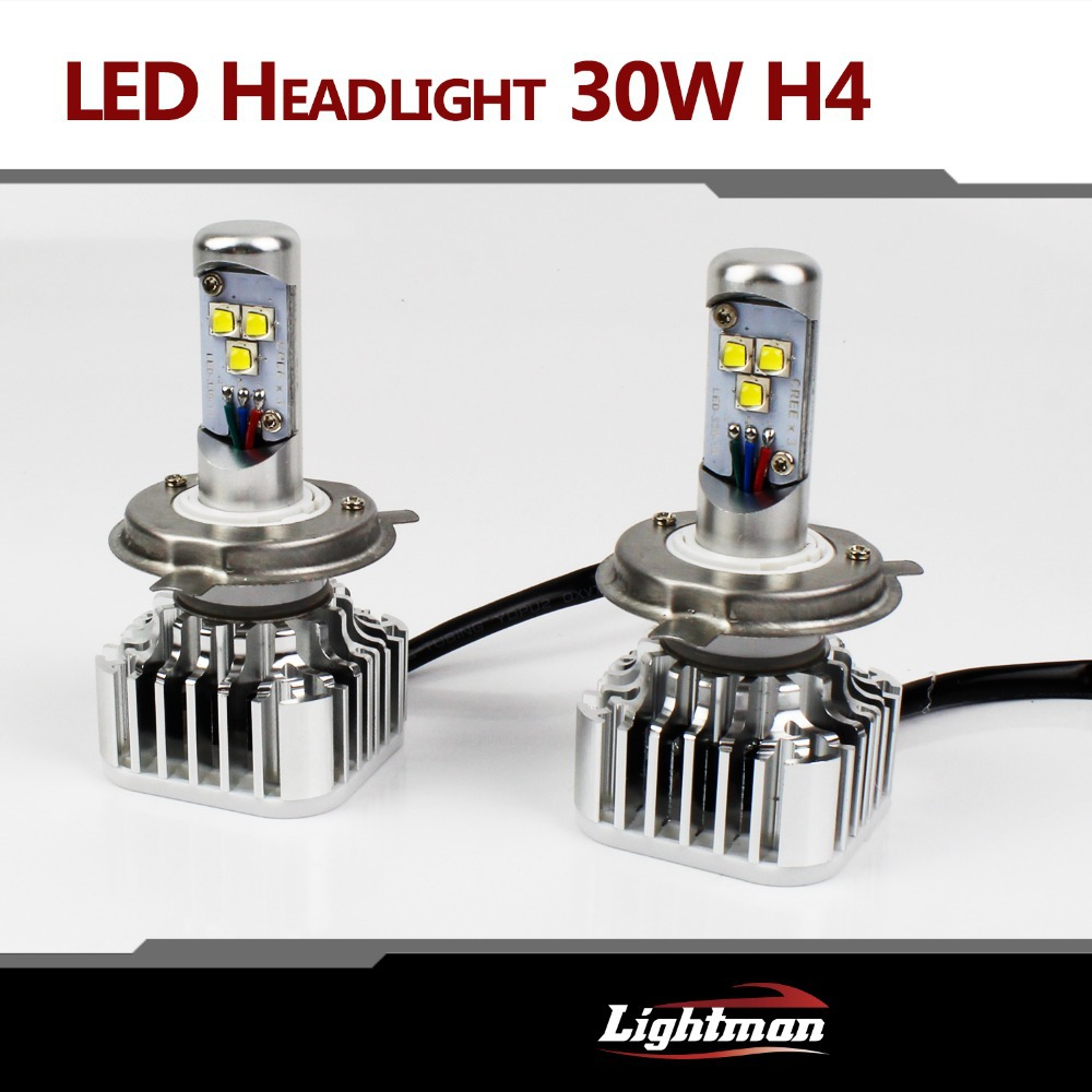 2x Plug&Play 30W 3000LM CREE LED HI/LO H4 H4-3 HB2 9003 H7 H8/9/11 9005 9006 WHITE BULB DRL Fog HEADLIGHT NO NEED BALLAST RELAY(China (Mainland))