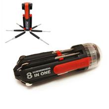 8 en 1 multifunción destornillador herramientas prácticas envío de la gota libre