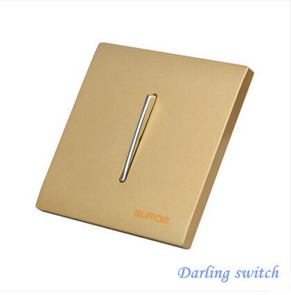 Darling switch ,Luxury Panel, US/AU standard, LED indicator, Wall switch, Light switch, Flat Reset switches, 1 Gang 1 Way(China (Mainland))