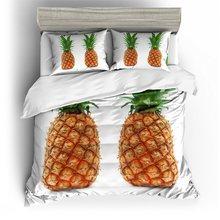 New sleek minimalist style bedding digital printing fruit pattern bedding set United States Australia EU country size 3PCS(China)