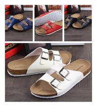 2015 Summer shoes casual men's and women's cork sandals the trend flip-flop fashion unisex flip flops sandals big EU size 35-44(China (Mainland))