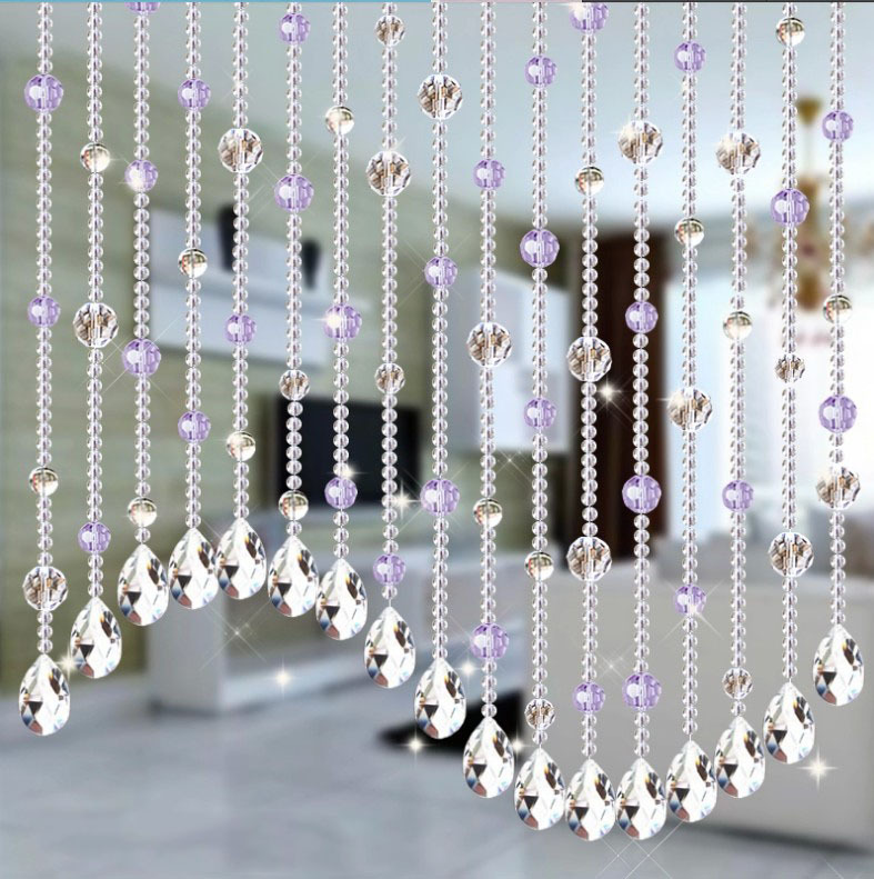 Wall Decorations For Engagement Party : Wedding party home decorations arylic crystal beads rope