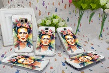 frida kahlo Design Back Hard Transparent Clear Style Case Cover for Galaxy S3 S4 S5 S6 Edge I9500 I9300