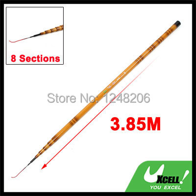 3.85M 9 Sections Telescopic Carbon Fiber Fishing Rod Retractable Fish Pole(China (Mainland))
