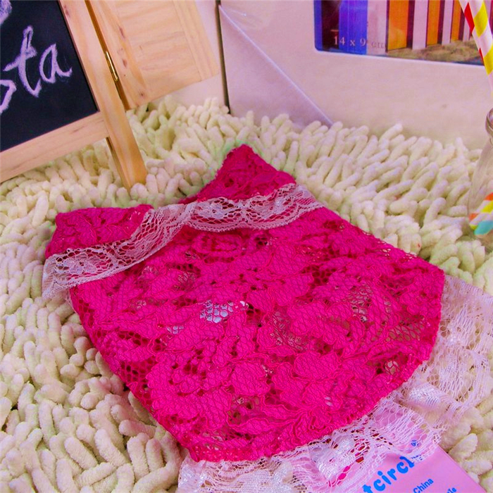New Fashion Summer Style Pet Vivian Lace Cardigan Rose Dog Vest Clothes(China (Mainland))
