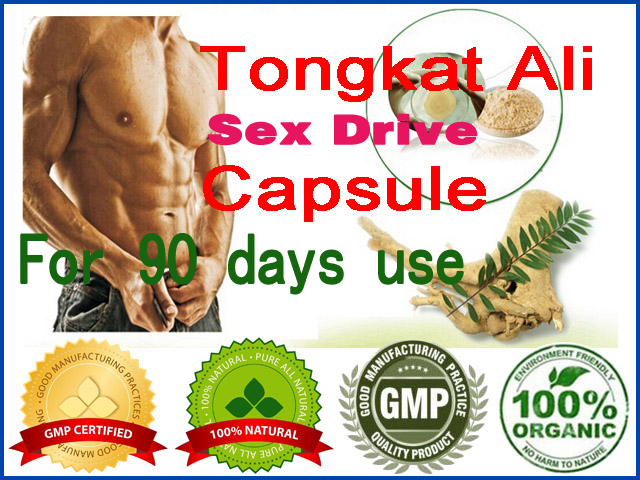 Sexual Health Herbal Dietary Supplements Natural Tongkat Ali Red Root Extract Powder Capsules (90pcs for 3 months supply)