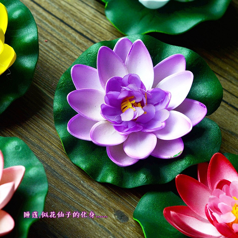 artificial silk plastic flowers fake bouquet cheap for wedding decoration manualidades mariage flores plants Water lily lotus(China (Mainland))