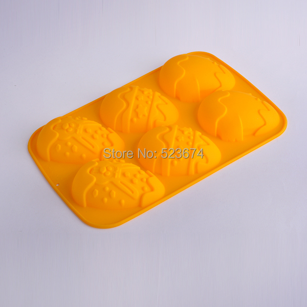 2 Food-Grade Easter Eggs shape cake silicone mold cup - Eileen Chou's store