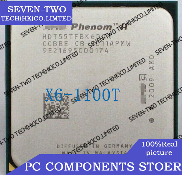 FREE SHIPPING NEW CPU CHIPS X6 1100T HDE00ZFBK6DGR A central processor cpu cooler(China (Mainland))