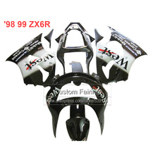Buy ABS Bodywork kit for Kawasaki zx6r fairings black 98 99 1998 1999 Ninja 636 zx 6r fairing kit xl29 for $375.00 in AliExpress store
