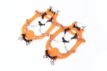 POINT BREAK Eleven Teeth Claws Stainless Steel Ice Crampons,non Slip Shoes Cover Chain Gripper,crampones For Snowshoe