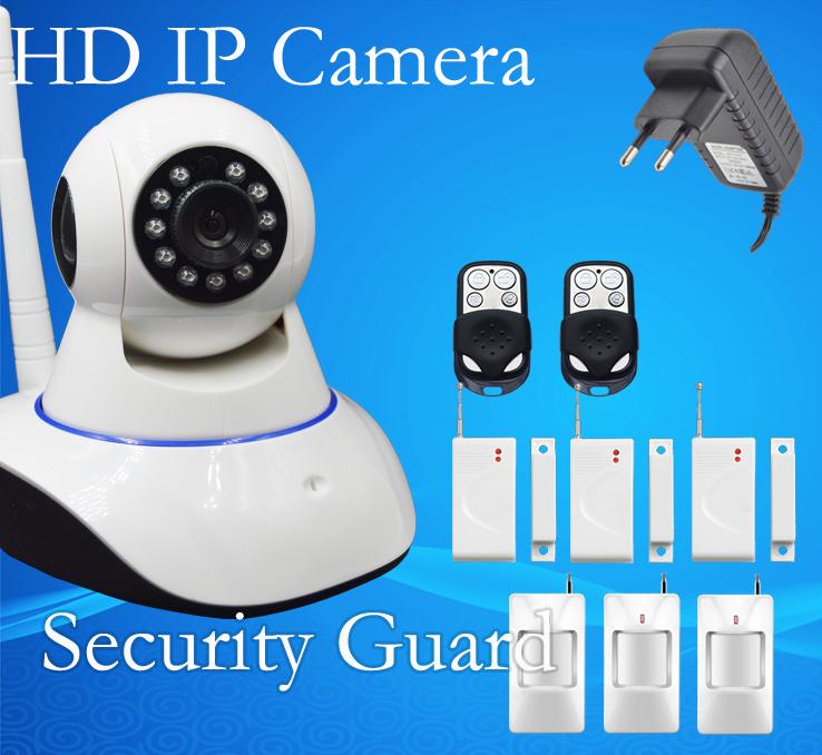 Free Shipping 2015 New Alarm type wifi HD IP Camera IPC Shake Head P2P Network Camera Support Wireless Sensor App and IOS 05A(China (Mainland))
