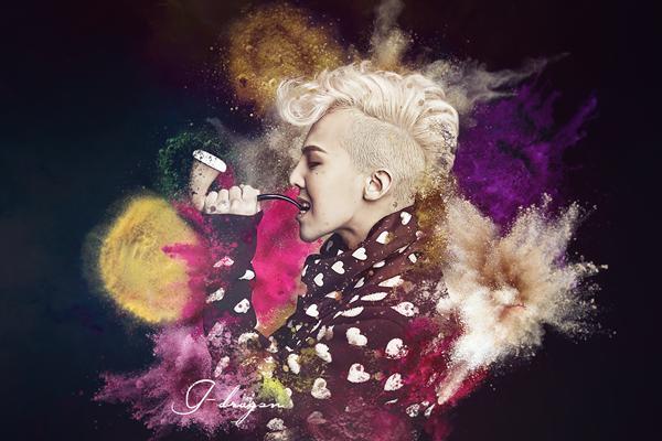 K-pop G -Dragon BIGBANG <font><b>Asian</b></font> <font><b>Home</b></font> Decoration Canvas Poster Print 24x36 inch Silk Poster wall <font><b>decor</b></font>