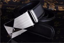 2016 nuevos hombres calientes automático hebilla marca cinturones de cuero de diseño para los negocios alta calidad vacuno y de lujo para hombre(China (Mainland))