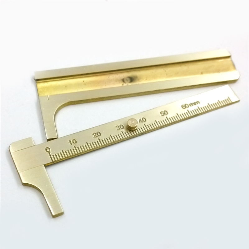 1 pc Mini Solid Brass Pocket Stainless Steel Digital Vernier Dial Caliper Gauge Micrometer 80mm MD028