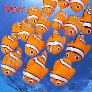 20 x Cute Baby Bath Toys Rubber Race Clown Fish new(China (Mainland))