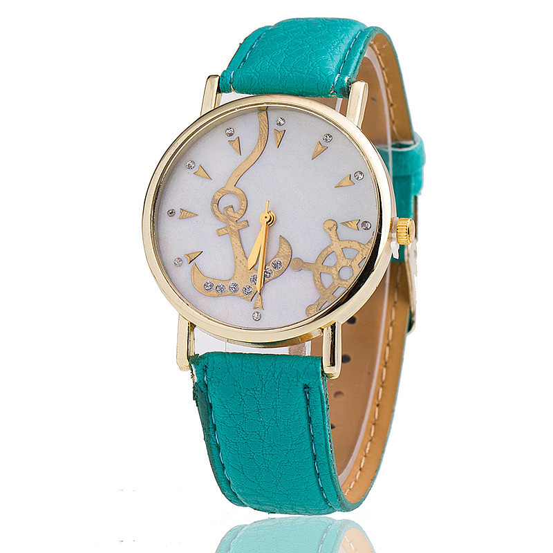 Fashion Anchor Watch Relogio Feminino Women Leather Strap Watches Quartz Gift - aiwise store